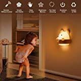 Baby Night Light for Kids,DawnTrees Bear Kids Night Light,Cute Kawaii Bear Light with Remote Control, Timer and Magnetic Nigh