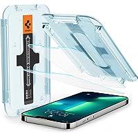 Spigen EZ Fit ガラスフィルム iPhone 13、iPhone 13 Pro 用 貼り付けキット付き iP…