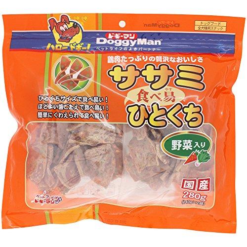 ドギーマン ササミ食べ易ひとくち 野菜入り 280g 140g×2