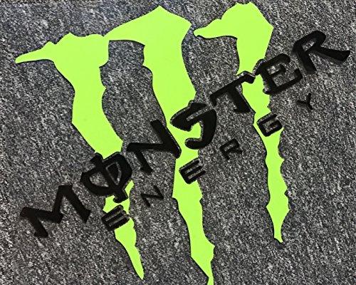 モンスターエナジー (オリジナル黒斜め) 車、バイクに最適! 防水カッティング ステッカー [並行輸入品]