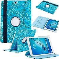 Samsung Tab s29.7ケース、Fullandケースfor Samsung Galaxy Tab s29.7タブレット( Wi - Fi SM - t810/ LTE SM - t815) PUレザー360回転スタンドcover-blue Flower