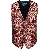 Epoint EGC2B.01 Series Style Patterns Microfiber Black-Back Dress Tuxedo Vest