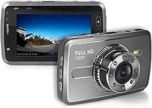 TA-Creative 広角 170°300万画素 フルHD 1080P 2.7インチ 液晶搭載 セキュリティ ドライブレコーダー 常時録画 Gセンサー 駐車モード ナイトビジョン TA-008C (シルバー)