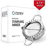 "COTEY 4.75"" Empanada Press, Large Stainless Steel Dumpling Maker, 3-in-1 Dough Cutter/Dumpling Mold/Pastry Crimper for Empana"