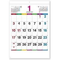 新日本カレンダー 2021年 カレンダー 壁掛け カラーラインメモ NK174 46/4(53.9×38㎝)