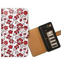プルームテック ケース PloomTECH 手帳型 フラワー B005501_03 花柄 あじさい おしゃれ かわいい