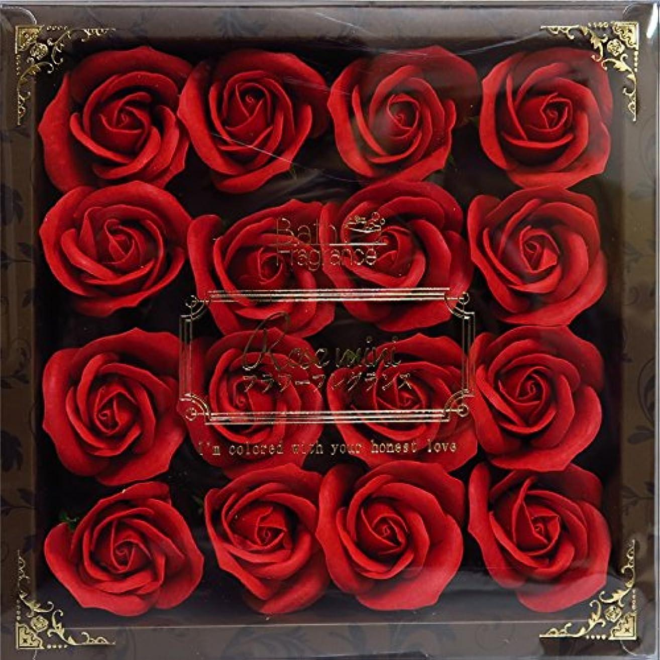 多様性等しい野心バスフレグランス バスフラワー ミニローズフレグランス(M)レッド ギフト お花の形の入浴剤 プレゼント ばら