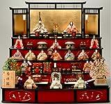 木目込み雛人形 香佳雛17人揃 真多呂作 段飾り