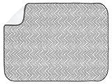 InterDesign 水切り マット ドライングマット キッチン XL グレー 46 x 61 cm 40580EJ