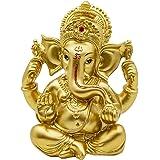 Hindu Ganesha Statue Diwali Decor - Lord Ganesh Ganpati Elephant Meditation - Indian Idol Home Puja Decor