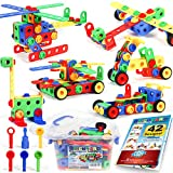Brickyard Building Blocks 163 Piece Stem Toys Kit, Educational Construction Engineering Building Blocks Learning Set For Ages 3 4 5 6 7 8 9 10 Year Old Boys & Girls Creative Games & Fun Activity