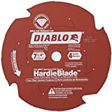 Freud D0704DH Diablo 7-1/4-Inch-by-4-Tooth Polycrystalline Diamond Tipped TCG Hardie Fiber Cement Saw Blade with 5/8-Inch Arb