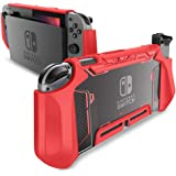 Dockable Case for Nintendo Switch - Mumba TPU Grip Protective Cover Case Compatible with Nintendo Switch Console and Joy-Con