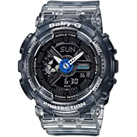 Casio Baby G Women BA110JM-1A Year-Round Analog-Digital Automatic Black Watch