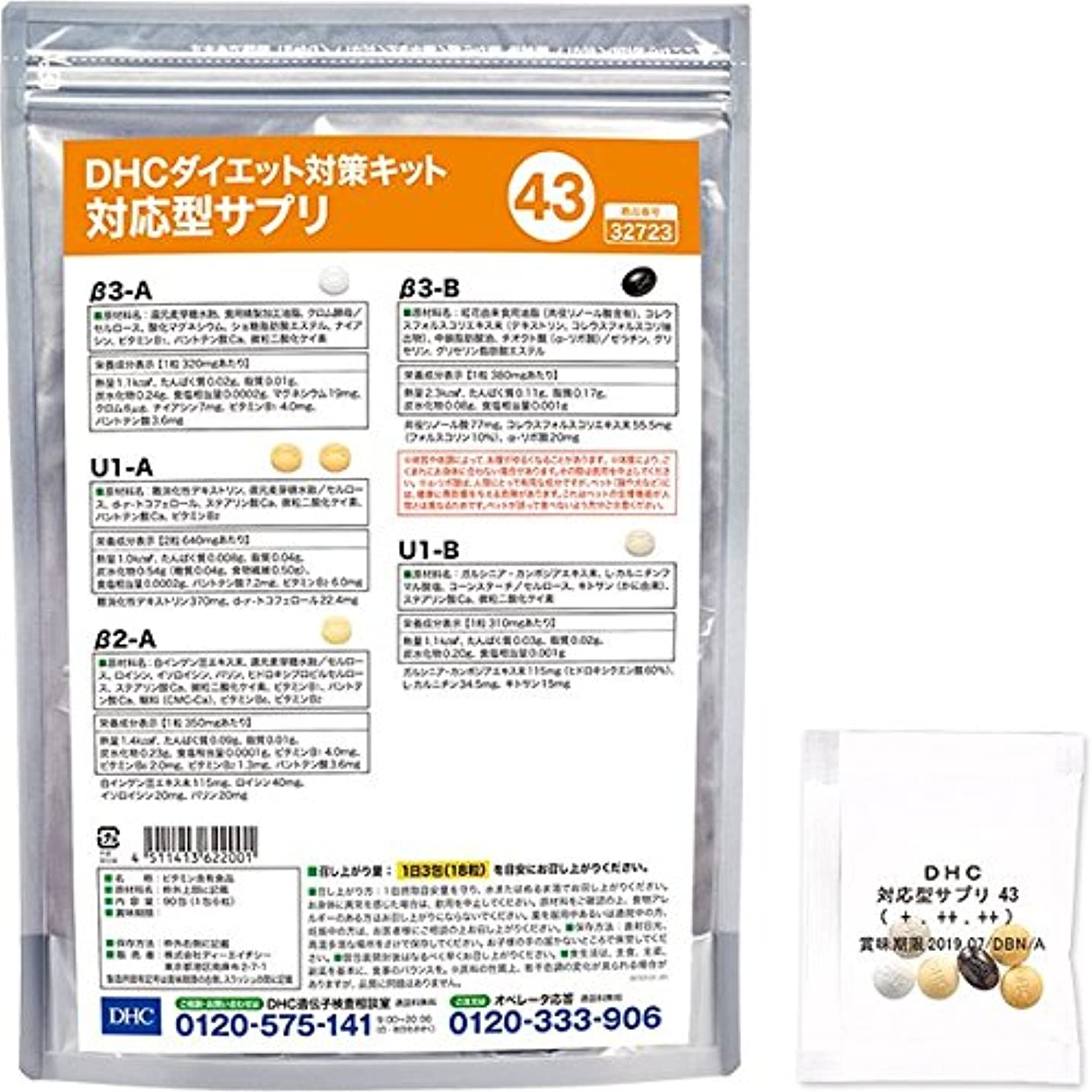 トーン水ジャズDHCダイエット対策キット対応型サプリ43