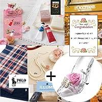 お 花 プリザーブドフラワー ピンク ローズ ヒール と カタログギフト B-BO ギフト セット (DB)