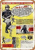 "7"" x 10""メタルサイン–1965G。I。Joe–Vintage Look Reproduction"
