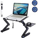 Ergonomic Laptop Table Foldable Lap Desk Tablet Vertical Stand Holder Adjustable Notebook Riser Game Cooling Fans Mouse Pad R