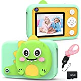 RenFox Kids Camera - 16MP Beginner Digital Camera Gifts for 3-12 Yeas Old Boys Girls, Rechargeable Shockproof 1080P Video Rec