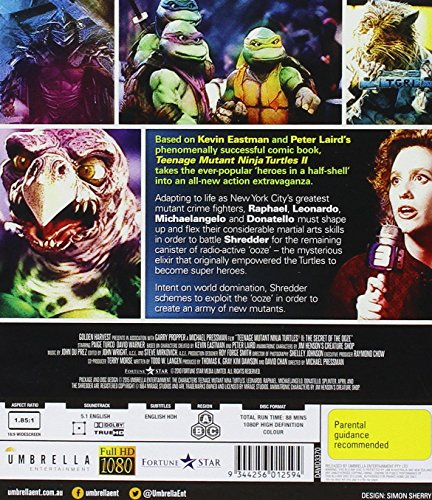 Teenage Mutant Ninja Turtles 2: Secret of the Ooze [Blu-ray] [Import]