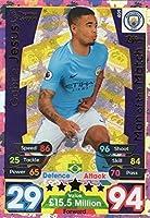Match Attax 17/ 18Gabriel Jesus Man of the Match Card # 409–Manchester City 2017/ 18