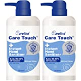Care Touch Value Pack 2 x 1L Instant Hand Sanitiser, 75% Alcohol, Kills 99.99% of Germs, Made in China