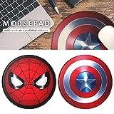 【カラー:スパイダーマン】マウスパッド マーベルヒーロー マウス パッド かわいい おしゃれ メンズ 円型 円形 丸 ブラック MARVEL マーベル キャラクター スパイダーマン キャプテンアメリカ 滑り止め 厚 厚い ポリウレタン レザー s-pg_79929
