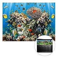 AWHAO 水槽背景 バックスクリーン ステッカー 水族館 飾り 防水 厚いPVC 海 コーラルパターン