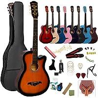 アコースティックギター 初心者18点セット 38インチ 入門練習ギター 学生 子供 大人用 初級ギターセット 初心者入門…