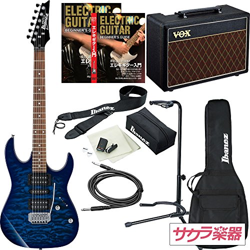 Ibanez アイバニーズ エレキギター GIO Ibanez GRX70QA/TBB ギター入門VOXアンプセット