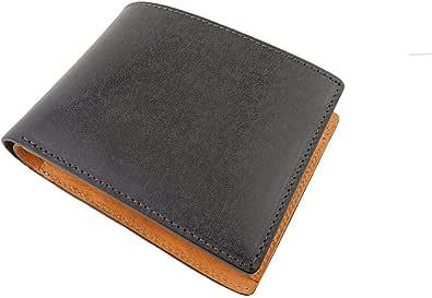 ファブリツィオ 財布 二つ折り メンズ イタリアン レザー ボックス型 小銭入れ 大容量
