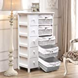 Levede Chest of Drawers Dresser Bedroom Storage Cabinet Baskets Hallway Tables Model D