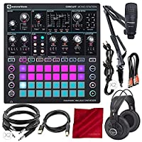 Novation Circuit Mono Station Paraphonic Analog Synthesizer and Sequencer with Marantz Professional Pod Pack 1 USB Microphone Broadcast Kit and Platinum Accessory Bundle [並行輸入品]