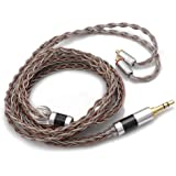 Linsoul TRIPOWIN C8 8-Core Silver Copper Foil Braided Earphone Replacement Upgrade Cable, Tinsel Silver Copper Wire for UE900