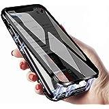iPhone xr ケース スマホケース 覗見防止 両面 前後 ガラス 9hガラスケース クリアケース マグネットケース アルミ バンパー iphone xr ケース 全面保護 360度フルカバー 9d曲面全面保護 磁気吸着 取り付けやすい 強化ガラ