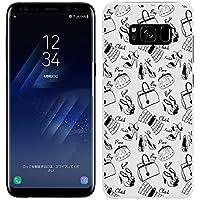 [Breeze-正規品] iPhone ・ スマホケース ポリカーボネイト [WHITE(BLACK)] Samsung Galaxy S8 ケース SC-02J/SCV36 ギャラクシーs8 カバー 液晶保護フィルム付 全機種対応 [GS8]