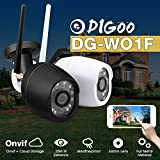 Digoo Cloud 720P Waterproof Outdoor WiFi Security Ip Camera Motion Detect CCTV (Black)