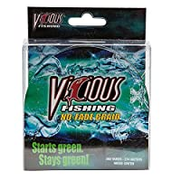 Vicious釣りモスグリーンnbrg40no fade編組ライン300yd。スプール/ 40lbs