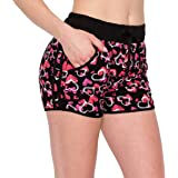 Always Women Workout Yoga Shorts - Premium Buttery Soft Stretch Cheerleader Running Dance Volleyball Short Pants with Stripes