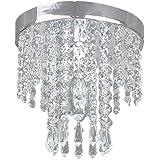 OSALADI Modern Simplicity K9 Crystal Chandelier LED Ceiling Lamp Wide Pressure 85-265V E14 Lamp Head Bedroom Living Room Hang