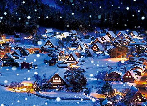600ピースジグソーパズル 雪降る白川郷(38×53cm)