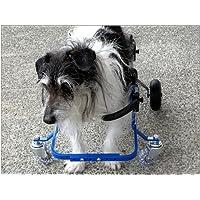 老化や病状の進行で4肢とも弱く自力で立っていられない愛犬のための「K-9 カスタム」 4肢サポート車いす 11.1~18kgブルー