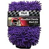 MLH Microfibre Chenille Wash Mitt, Purple (64MLH305)