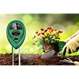 3 in 1 Moisture Meter (No Battery Needed) with pH.1-14 Test Paper, Soil Tester,Soil PH Meter Gardening Tools for PH, Light &