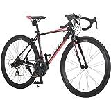 カノーバー(CANOVER) ロードバイク 自転車 21段変速 アルミフレーム CAR-015 UARNOS マットブラック ホワイト