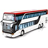 Coxeer Pull Back Vehicles Toy Creative Decker Bus Toy Sound Vehicles Toy for Kids
