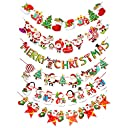 Yosoo クリスマス 飾り ガーランド 装飾 2018 新年 2019 クリスマス 飾り デコレーション 3m 6種類 トナカイ 雪だるま クリスマスツリー 靴下 MERRY CHRISTMAS クリスマスフェルト ガーランド 学園祭 イベント パーティー 店舗 ショップ 装飾 インテリア