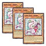【 3枚セット 】遊戯王 英語版 TDIL-EN042 Fairy Tail - Snow 妖精伝姫?シラユキ (ノーマル) 1st Edition