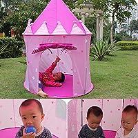 LuxBene(TM)BS#S Portable Children Kids Play Tents Outdoor Garden Folding Toy Tent Pop Up Kids Girl Princess Castle Outdoor House Kids Tent