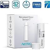 Aeotec Recessed Door Sensor 7, Z-Wave Plus, Invisible Security Door Sensor, Smart, Battery Powered, SmartStart & S2, Z-Wave h